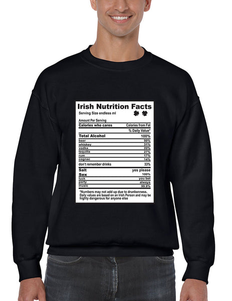 Irish nutrition facts St patrick men sweatshirt - ALLNTRENDSHOP - 4