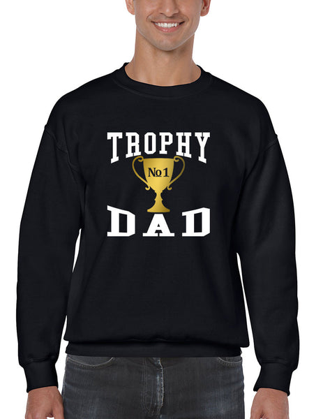 Men's Sweatshirt Trophy Dad Love Father Shirt Daddy Cool Gift - ALLNTRENDSHOP - 6
