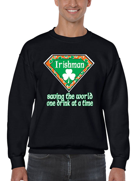 Irishman saving the world st patricks Men Sweatshirts - ALLNTRENDSHOP - 2