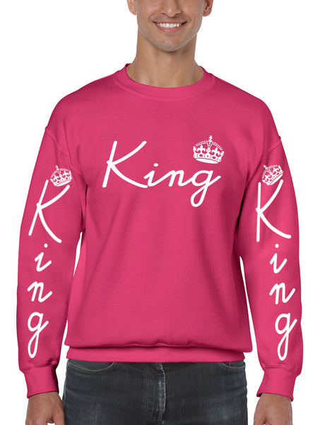 King with crown men sweatshirt - ALLNTRENDSHOP - 6