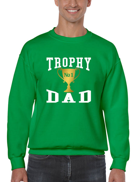 Men's Sweatshirt Trophy Dad Love Father Shirt Daddy Cool Gift - ALLNTRENDSHOP - 5
