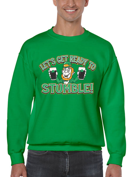let`s get ready to stumble St patrick men sweatshirt - ALLNTRENDSHOP - 5