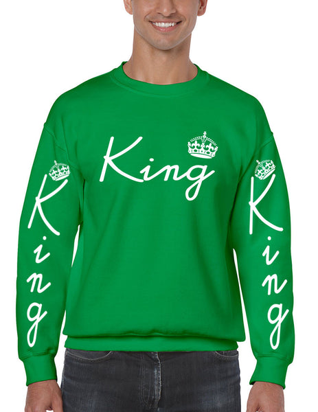 King with crown men sweatshirt - ALLNTRENDSHOP - 7