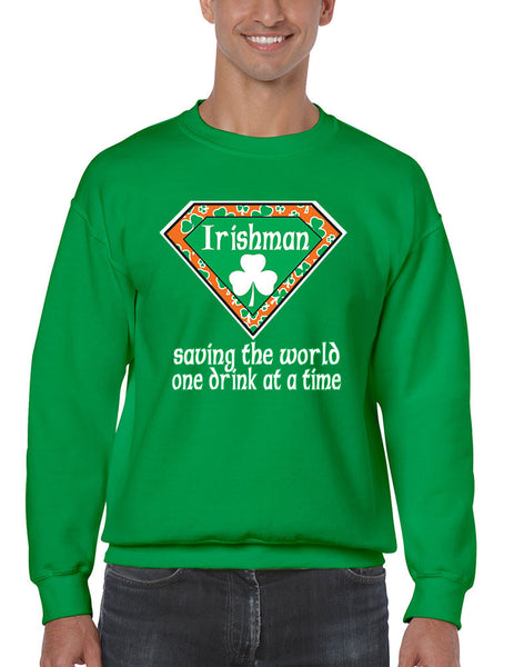 Irishman saving the world st patricks Men Sweatshirts - ALLNTRENDSHOP - 3