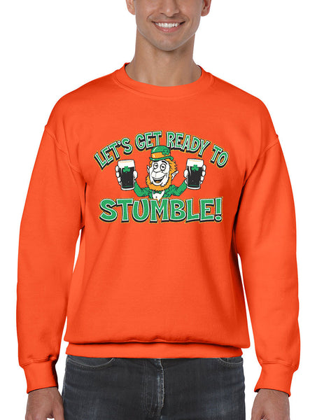 let`s get ready to stumble St patrick men sweatshirt - ALLNTRENDSHOP - 1