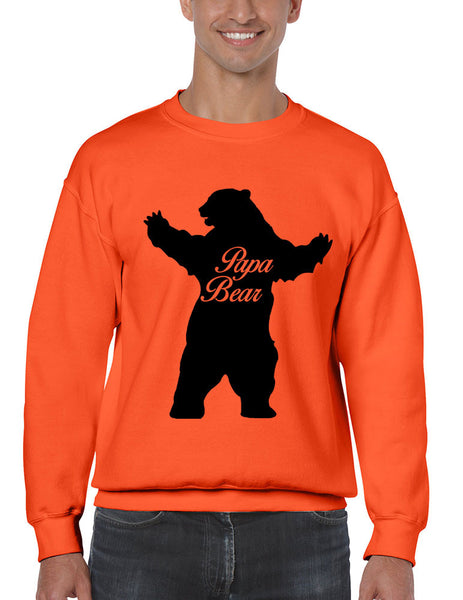 Men's Crewneck Papa Bear Family Top For Dad Father's Day Gift - ALLNTRENDSHOP - 6