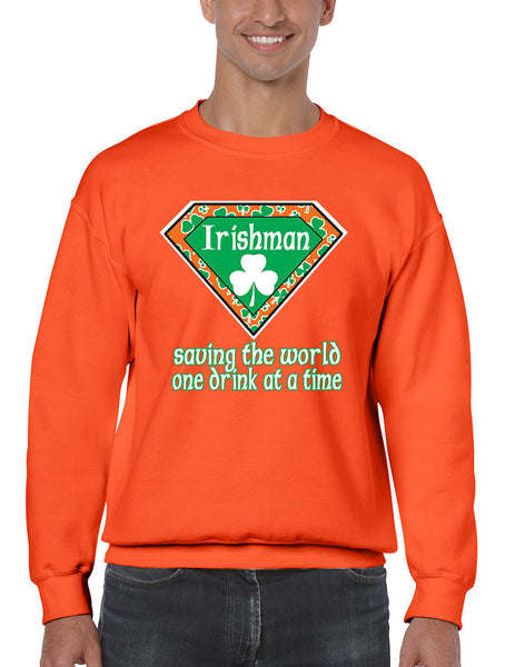 Irishman saving the world st patricks Men Sweatshirts - ALLNTRENDSHOP - 4