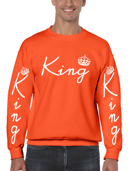 King with crown men sweatshirt - ALLNTRENDSHOP - 1