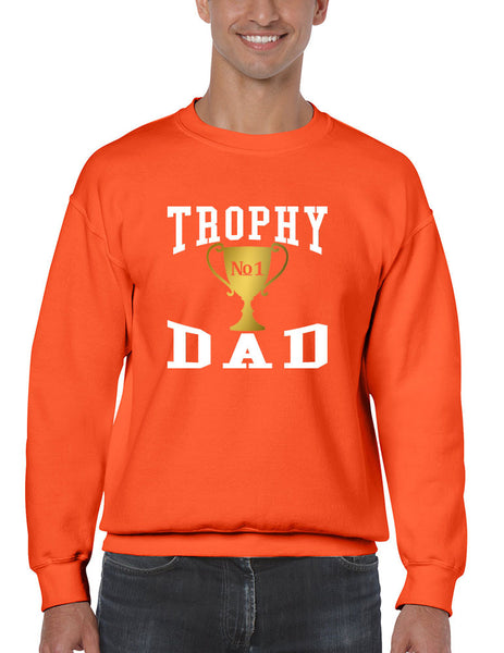 Men's Sweatshirt Trophy Dad Love Father Shirt Daddy Cool Gift - ALLNTRENDSHOP - 4