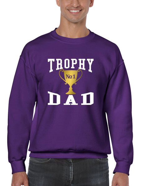 Men's Sweatshirt Trophy Dad Love Father Shirt Daddy Cool Gift - ALLNTRENDSHOP - 3