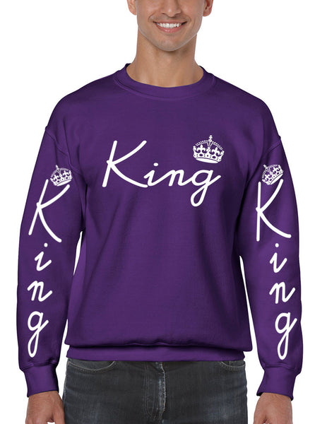 King with crown men sweatshirt - ALLNTRENDSHOP - 2