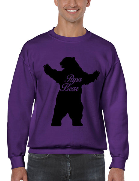 Men's Crewneck Papa Bear Family Top For Dad Father's Day Gift - ALLNTRENDSHOP - 5