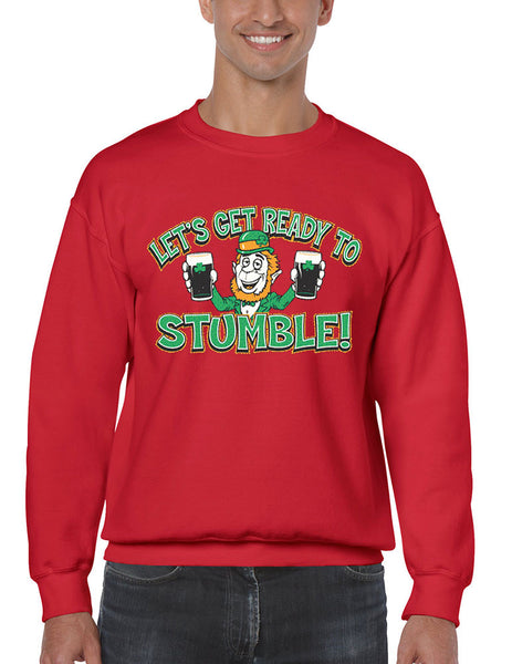 let`s get ready to stumble St patrick men sweatshirt - ALLNTRENDSHOP - 3