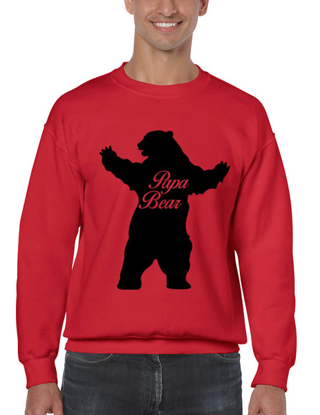Men's Crewneck Papa Bear Family Top For Dad Father's Day Gift - ALLNTRENDSHOP - 3