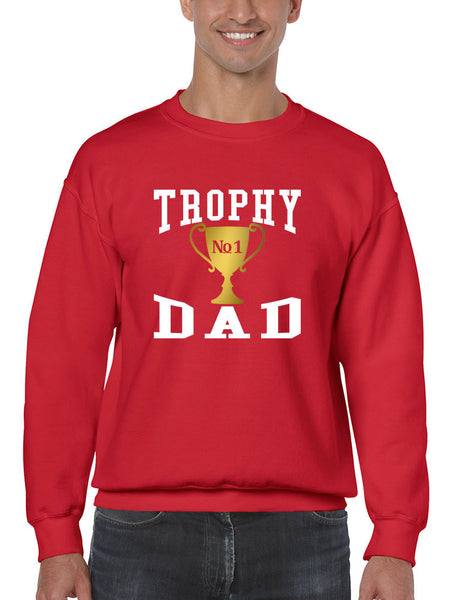 Men's Sweatshirt Trophy Dad Love Father Shirt Daddy Cool Gift - ALLNTRENDSHOP - 1