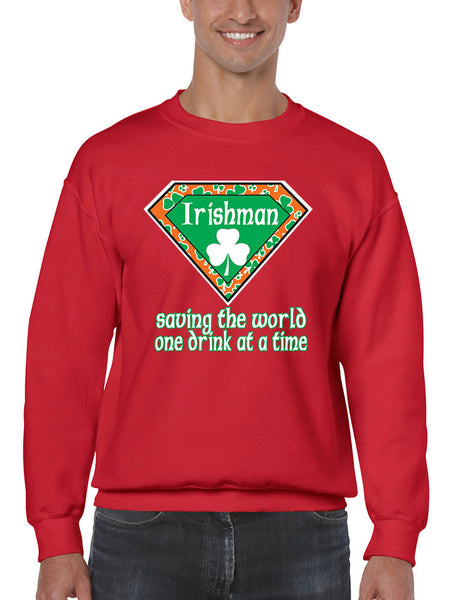Irishman saving the world st patricks Men Sweatshirts - ALLNTRENDSHOP - 5
