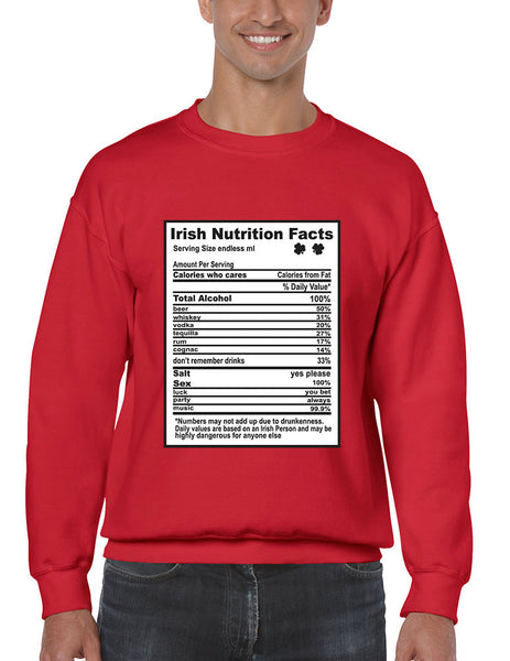 Irish nutrition facts St patrick men sweatshirt - ALLNTRENDSHOP - 3