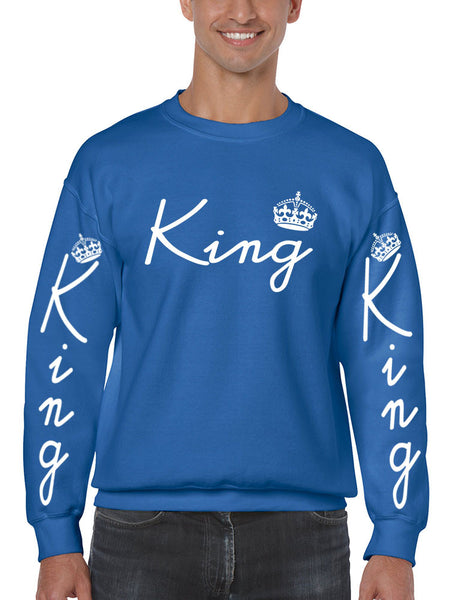 King with crown men sweatshirt - ALLNTRENDSHOP - 4