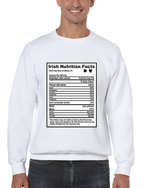 Irish nutrition facts St patrick men sweatshirt - ALLNTRENDSHOP - 2