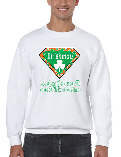Irishman saving the world st patricks Men Sweatshirts - ALLNTRENDSHOP - 1