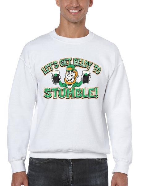 let`s get ready to stumble St patrick men sweatshirt - ALLNTRENDSHOP - 2
