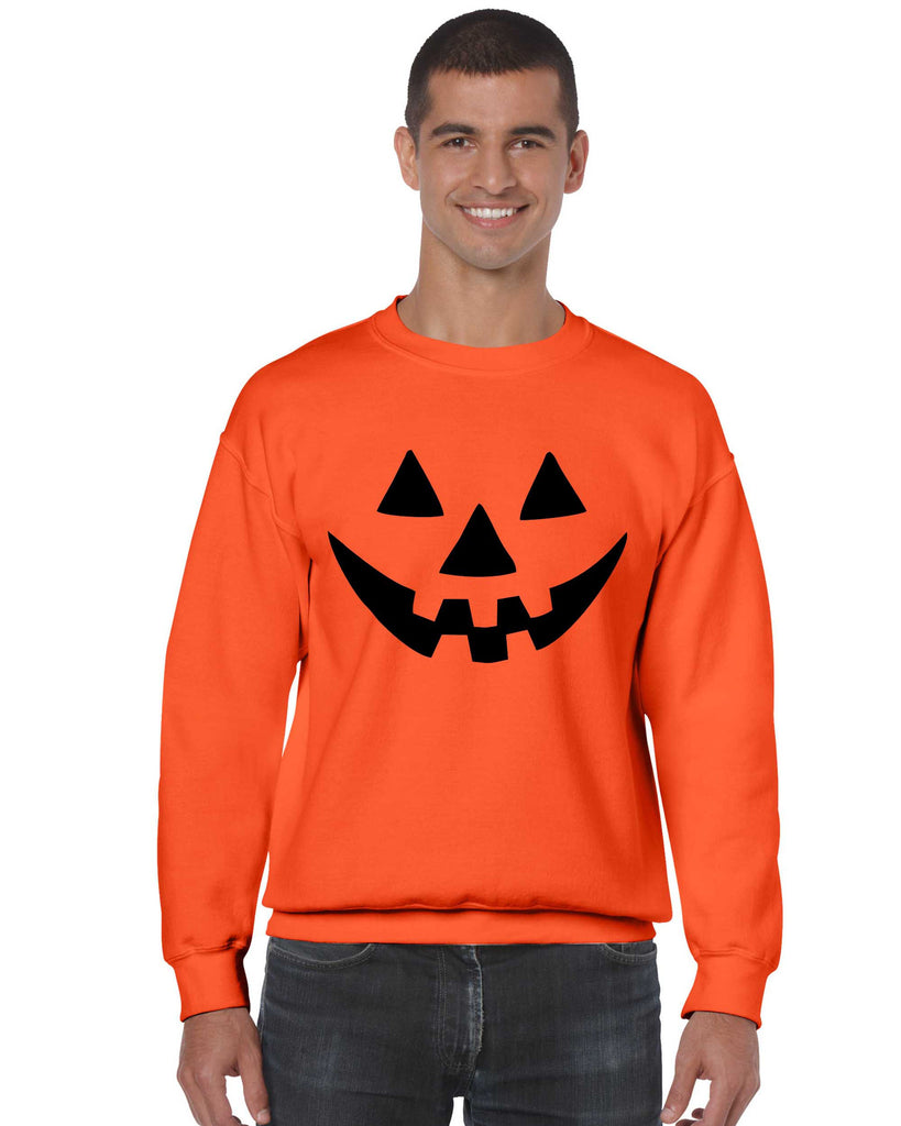 Jack O Lantern funny pumpkin Orange Man`s Sweatshirt - ALLNTRENDSHOP