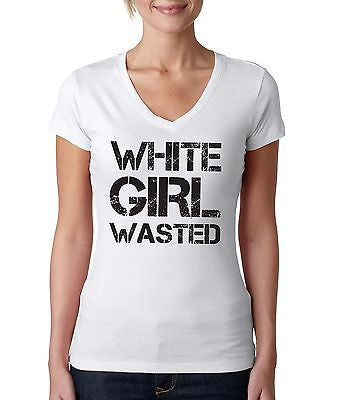 White Girl Wasted Women's Sporty V shirt - ALLNTRENDSHOP - 1