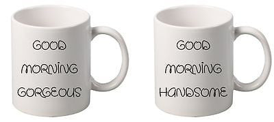 Good Morning Gorgeous Good Morning Handsome couples Mug - ALLNTRENDSHOP