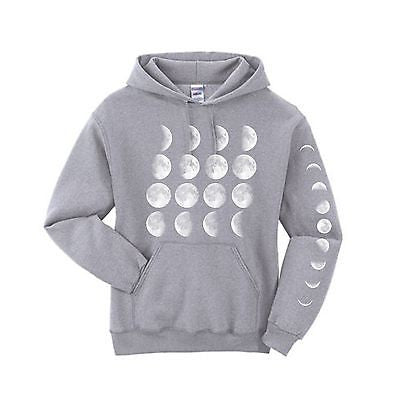 Moon Phases Hooded Sweatshirt - ALLNTRENDSHOP - 2