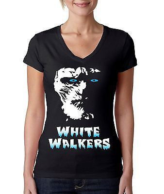 White Walkers Women's Sporty V Shirt - ALLNTRENDSHOP - 1