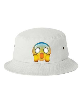 Scared Emoji Bucket Cap Hat - ALLNTRENDSHOP - 1