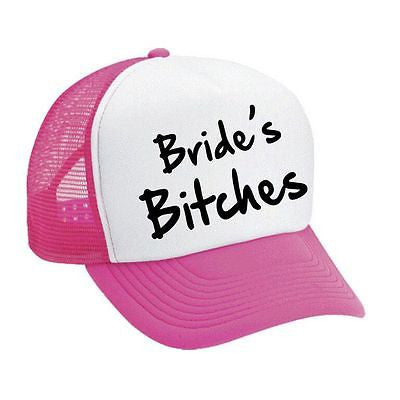 Bride's Bit**es Bachelorette party Dual color Trucker Cap - ALLNTRENDSHOP