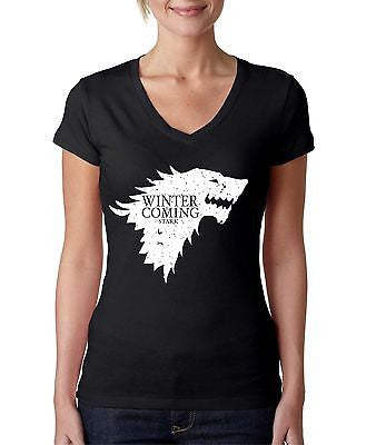 Stark Winter Is Coming Women's Sporty V Shirt - ALLNTRENDSHOP