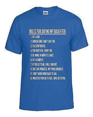 Rules For Dating My Daughter Men's T-shirt - ALLNTRENDSHOP - 2