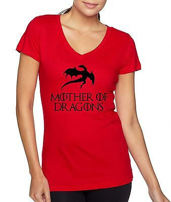 Mother Of Dragon Game Of Thrones Women's Sporty V Shirt - ALLNTRENDSHOP - 2