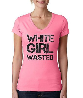 White Girl Wasted Women's Sporty V shirt - ALLNTRENDSHOP - 5