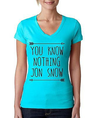 you klnow nothing Jon Snow GOT Women's Sporty V shirt - ALLNTRENDSHOP  - 4