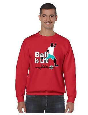 Soccer Ball Is Life Men's Crewneck Sweatshirt - ALLNTRENDSHOP - 4