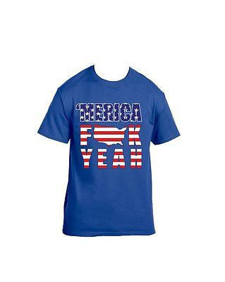 Merica F**k Yeah 4th of July T-Shirt - ALLNTRENDSHOP - 1