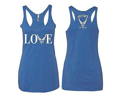Love Air Force Wife Women's Triblend Tanktop - ALLNTRENDSHOP