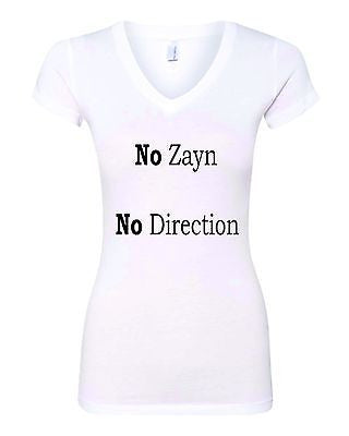 No Zayn No Direction Love Zayn Malik Women's Sporty V Shirt - ALLNTRENDSHOP