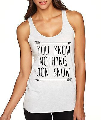 You Know Nothing Jon Snow Women's Triblend Tanktop - ALLNTRENDSHOP - 2