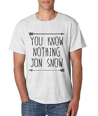 You Know Nothing Jon Snow Game Of Thrones Men's T-Shirt - ALLNTRENDSHOP - 1