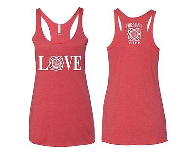 Love Fireman's Wife Women's Triblend Tanktop - ALLNTRENDSHOP