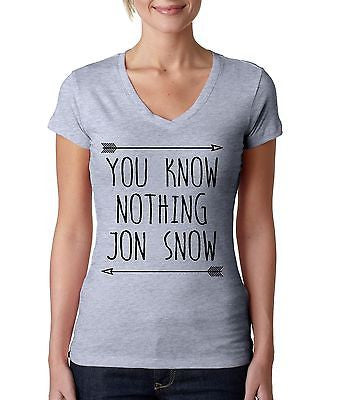 you klnow nothing Jon Snow GOT Women's Sporty V shirt - ALLNTRENDSHOP  - 1