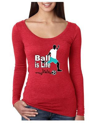 Soccer Ball Is Life Women's Long Sleeve Shirt - ALLNTRENDSHOP - 6