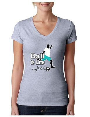 Soccer Ball Is Life Women's Sporty V Shirt - ALLNTRENDSHOP - 4