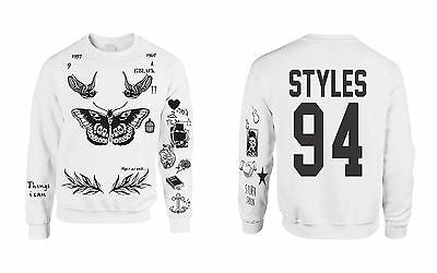 One Direction HARRY STYLES Tattoo 94 Sweatshirt - ALLNTRENDSHOP - 3