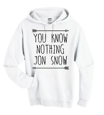 You Know Nothing Jon Snow Game Of Thrones Hoodie - ALLNTRENDSHOP - 1