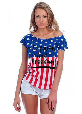 To Youth And Freedom Usa Flag Women's Drop Shoulder Shirt - ALLNTRENDSHOP